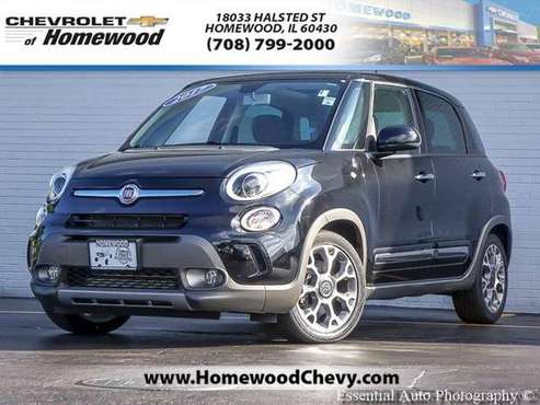 2017 Fiat 500L hatchback Trekking - Black for sale in Homewood, IL