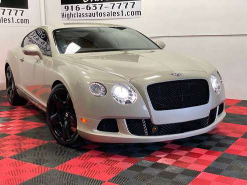 2012 Bentley Continental GT AWD W12 Twin Turbo Available Financing!! for sale in MATHER, CA