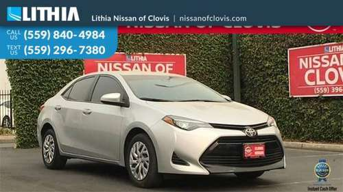 2018 Toyota Corolla LE CVT - cars & trucks - by dealer - vehicle... for sale in Clovis, CA