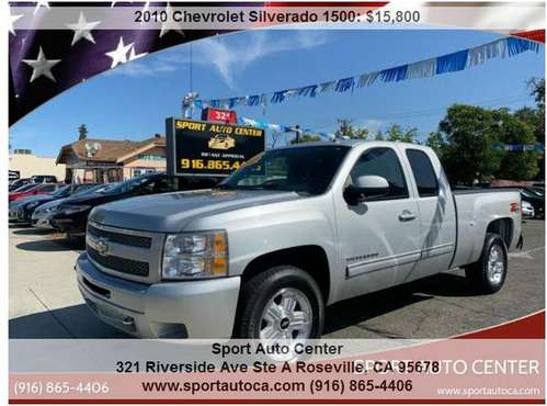 2010 Chevrolet Silverado 1500 LT 4x4 easy financing (2500 DOWN 161 MON for sale in Roseville, CA
