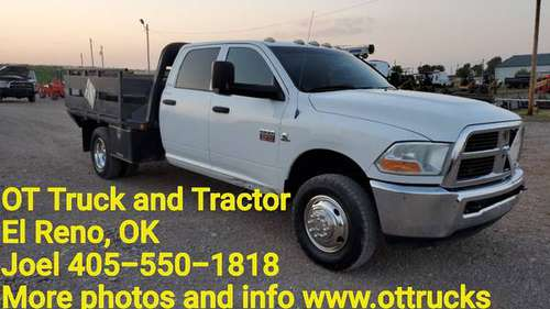 2012 Dodge RAM 3500 4wd Crew Cab 9ft Flatbed Tommy Lift Gate 6.7L Dsl for sale in Wichita Falls, TX