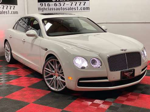 2015 BENTLEY FLYING SPUR V8 WITH IMMACULATE HOTSPUR INTERIOR!! for sale in MATHER, CA
