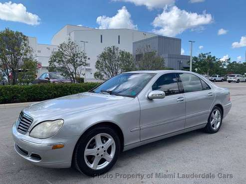 2004 Mercedes S500 Low Miles Clean Carfax Fully Loaded for sale in Margate, FL