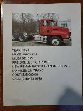 1998 Mack CH for sale in Crest Hill, IL