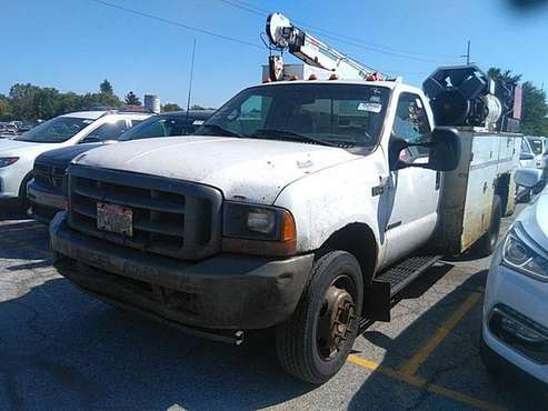 2001 FORD F550 7.3 DIESEL SERVICE TRUCK WELDER CRANE 26K ACT. MILES... for sale in Grove City, OH