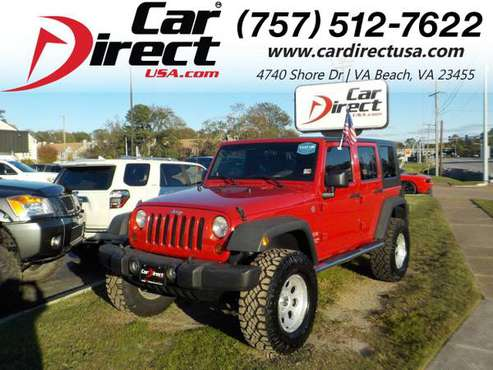 2010 Jeep Wrangler Unlimited UNLIMITED SPORT 4X4, ONE OWNER, HARD... for sale in Virginia Beach, VA