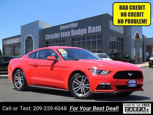 2015 Ford Mustang Ecoboost Premium Coupe coupe Red for sale in Pleasanton, CA