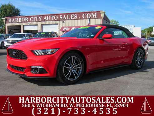 ~ ~ ~ 2017 FORD MUSTANG CONVERTIBLE! ECOBOOST! AC SEATS! LEATHER! ~ ~ for sale in WEST MELBOURNE, FL