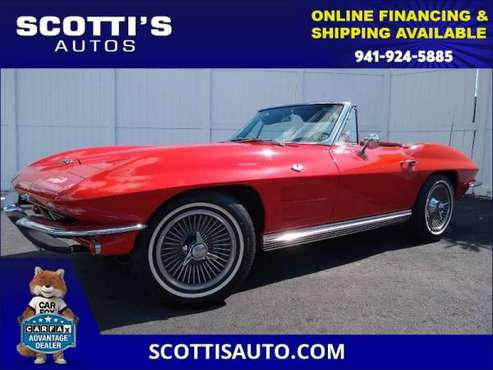 1964 Chevrolet CORVETTE CONVERTIBLE~ 327/365 HP~ 4 SPEED~ COMPLETE... for sale in Sarasota, FL