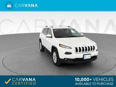 2016 Jeep Cherokee Latitude Sport Utility 4D suv WHITE - FINANCE for sale in Auburndale, MA