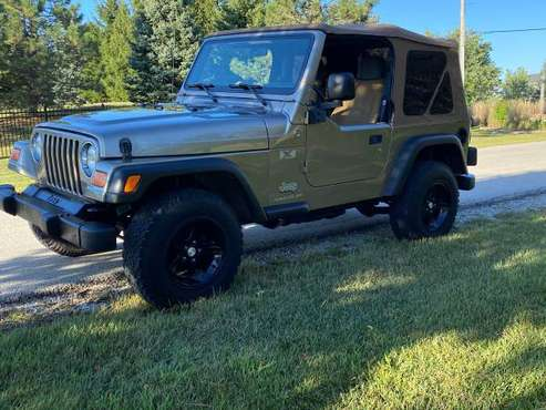 2005 Jeep Wrangler X ! 6 sod manual 46k miles ! Clean - cars &... for sale in Frankfort, IL