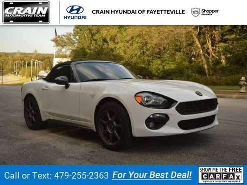 2017 Fiat 124 Spider Lusso Convertible Bianco Perla (Tri-Coat White) for sale in Fayetteville, AR
