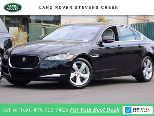 2018 Jag Jaguar XF 2.0L sedan Narvik Black for sale in San Jose, CA