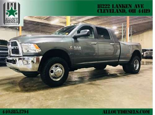 2013 RAM 3500 Diesel 4x4 Cummins Mega Cab Dually,90k miles,Back for sale in Cleveland, OH