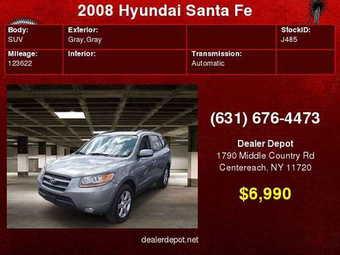 2008 Hyundai Santa Fe AWD 4dr Auto SE for sale in Centereach, NY