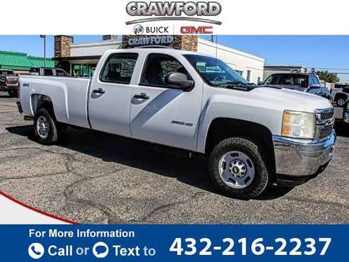 2011 Chevy Chevrolet Silverado 2500HD Work Truck pickup Summit White for sale in El Paso, TX