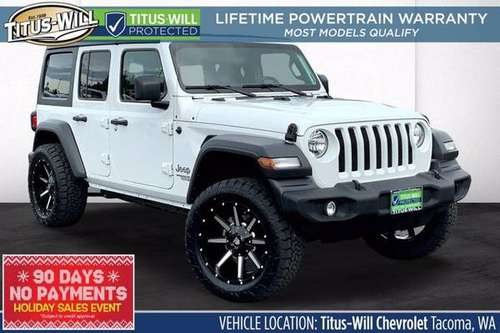 2019 Jeep Wrangler Unlimited 4x4 4WD SUV Sport S Convertible - cars... for sale in Tacoma, WA