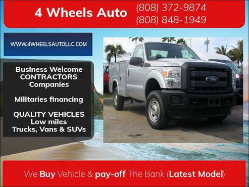 2014 Ford Super Duty F-350 ONLY 22K miles/4WD Reg Cab XL - cars &... for sale in Honolulu, HI