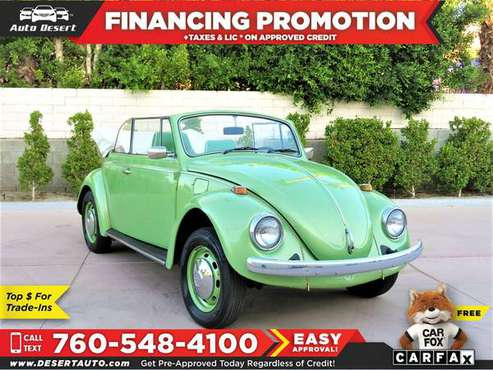 1968 Volkswagen *Beetle* *Classic* *Bug* $133 /mo for sale in Palm Desert , CA