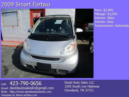 2009 Smart Fortwo Cabriolet for sale in Cleveland, TN