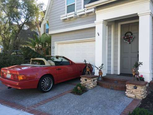 1990 Mercedes 500SL Red Roadster for sale in GROVER BEACH, CA