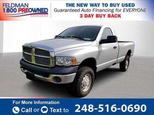 2005 *Dodge* *Ram* *2500* SLT pickup Bright Silver Metallic Clearcoat for sale in Waterford Township, MI