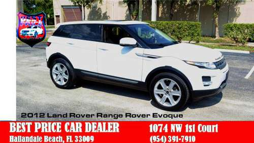 2012 RANGE ROVER EVOQUE SUV***SALE***BAD CREDIT APPROVED + LOW PAYMENT for sale in Hallandale, FL