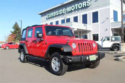 2011 Jeep Wrangler 4x4 4WD Unlimited Sport SUV - cars & trucks - by... for sale in Tacoma, WA