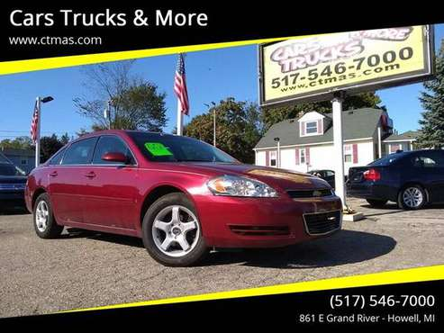 Nice Budget Driver ! 2008 Chevy Impala LT - Leather, Nicely Equipped ! for sale in Howell, MI