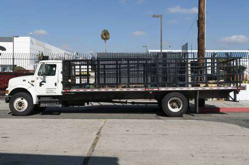 2002 INTERNATIONAL 4700 Flat Stake Bed Truck for sale in SUN VALLEY, CA
