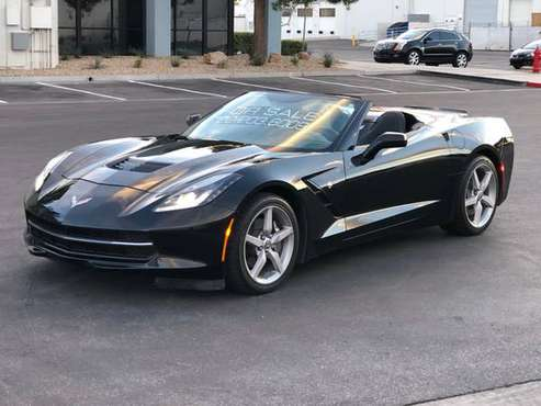 2014 Corvette Convertible-3LT-Auto-CLEAN TITLE + CARFAX-$349 mo OAC* for sale in Las Vegas, CA