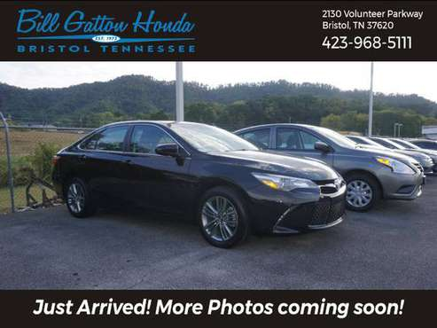 2017 *Toyota* *Camry* *SE Automatic* Black for sale in Bristol, TN