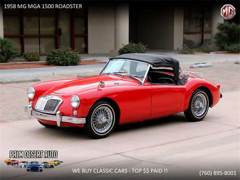 1958 MG MGA for sale in Palm Desert , CA