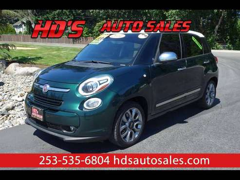 2014 Fiat 500L Lounge LEATHER HEATED SEATS!!! NAVIGATION BACKUP CAM!!! for sale in PUYALLUP, WA