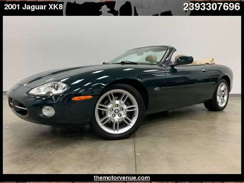 2001 Jaguar XK8 2dr Conv with Cellular phone pre-wiring for sale in Naples, FL
