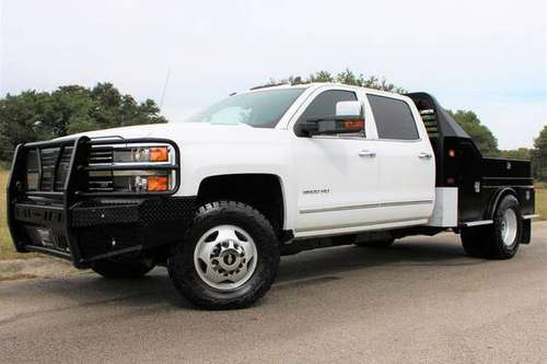 2016 CHEVY SILVERADO FLATBED 3500 6.6L DURMAX 4X4 1 OWNER LTZ PACKAGE! for sale in Temple, TX