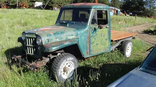 1955 willys pick up 4x4 for sale in Guffey, CO
