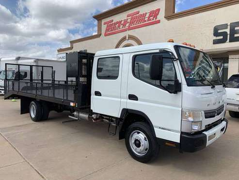 2020 MITSUBISHI FE160G Gas CREW CAB Landscape Flatbed, Dovetail, Warra for sale in Oklahoma City, OK