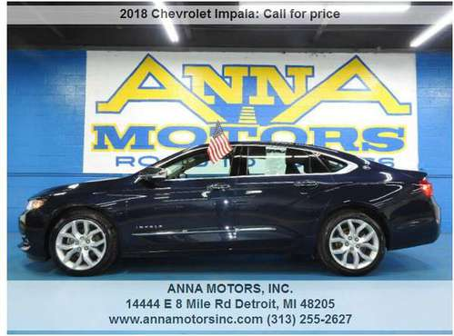 2018 CHEVROLET IMPALA PREMIER,PAYMENTS STARTING@$299*PER MONTH-STOP BY for sale in Detroit, MI