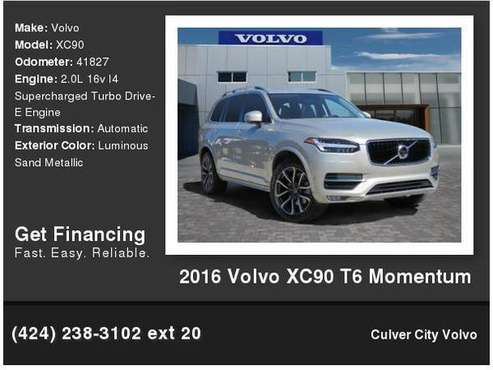 2016 Volvo XC90 T6 Momentum for sale in Culver City, CA