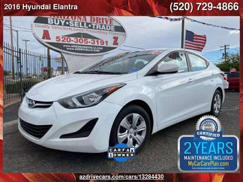 2016 Hyundai Elantra SE 4dr Sedan 6A (US) ARIZONA DRIVE FREE... for sale in Tucson, AZ