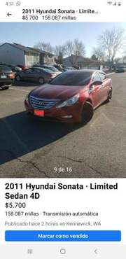 Hyundai Sonata 2011 - cars & trucks - by owner - vehicle automotive... for sale in Kennewick, WA