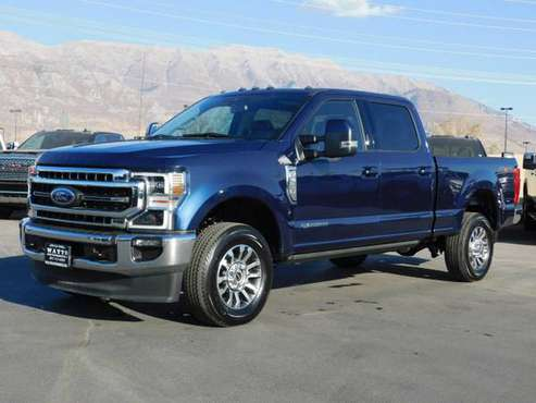 2020 *Ford* *SUPER DUTY F-350* *LARIAT* Blue - cars & trucks - by... for sale in American Fork, AZ