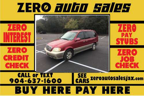 2002 KIA SEDONA - WE FINANCE WITH ZERO INTEREST!!! for sale in Jacksonville, FL
