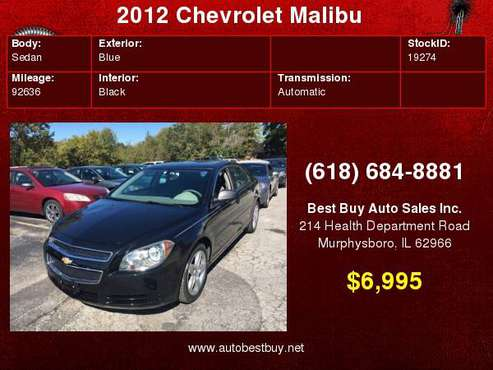 2012 Chevrolet Malibu LS 4dr Sedan Call for Steve or Dean for sale in Murphysboro, IL
