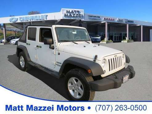 2017 Jeep Wrangler SUV Unlimited Sport (Bright White - cars & trucks... for sale in Lakeport, CA