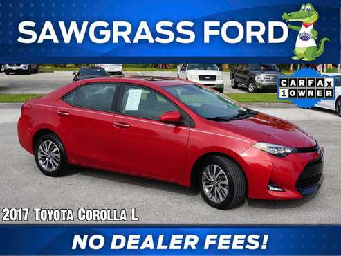 2017 Toyota Corolla L - Stock # 83942A Financing available - cars &... for sale in Sunrise, FL