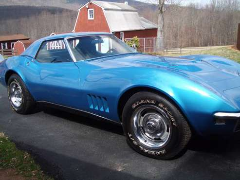 1968 corvette 427/blue /low mileage/ for sale in Charlottesville, VA