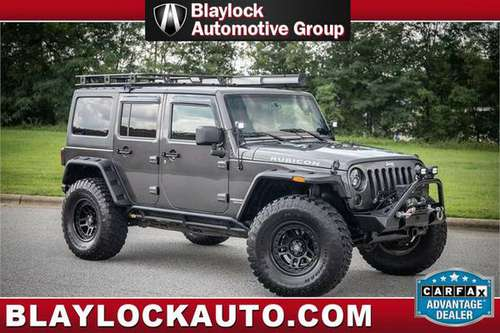 2014 JEEP WRANGLER RUBICON*LIFTED*37'S* 5 SPEED* OVER 10K SPENT* NICE* for sale in High Point, VA