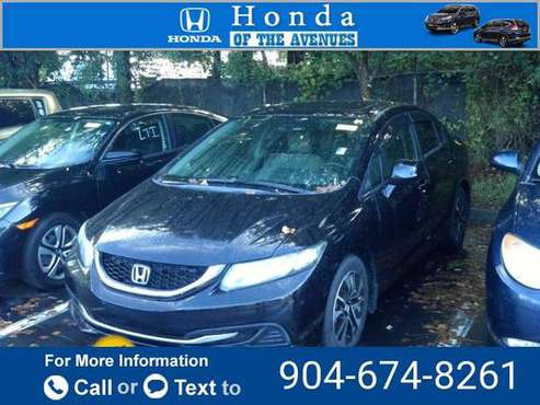 2013 Honda Civic EX sedan Crystal Black Pearl for sale in Jacksonville, FL